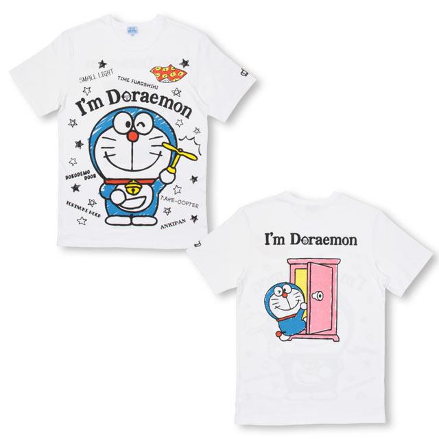 719fca44b4041 NEW 親子お揃い ドラえもん キャラクターTシャツ 2285A(S ホワイト ...